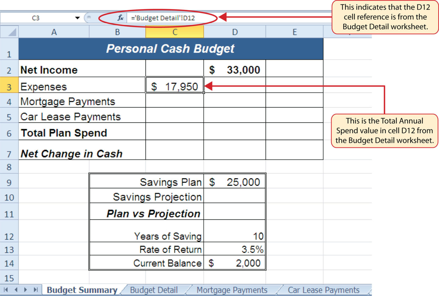 Schedule C Income Calculation Worksheet