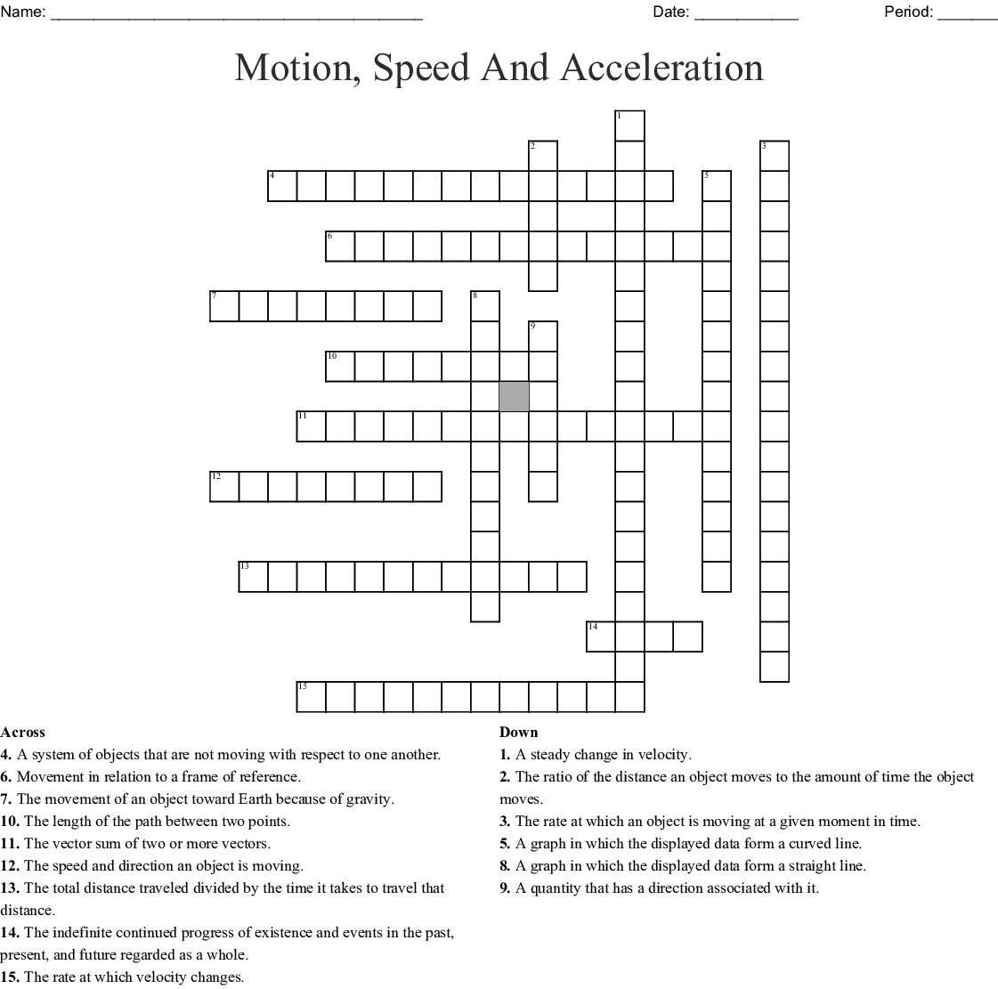 Speed And Acceleration Worksheet Answers