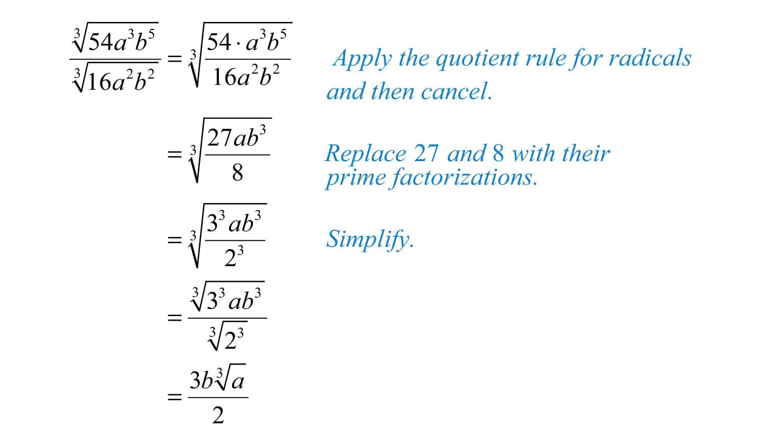Multiplying And Dividing Radical Expressions