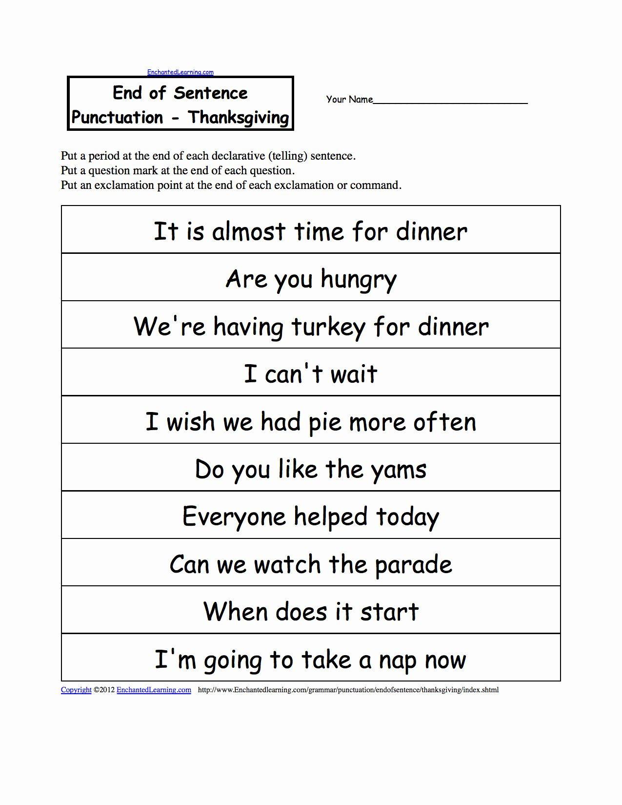 Grammar Correction Worksheets
