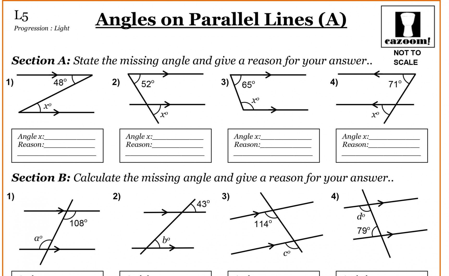 Parallel Lines Worksheet Answers Lobo Black