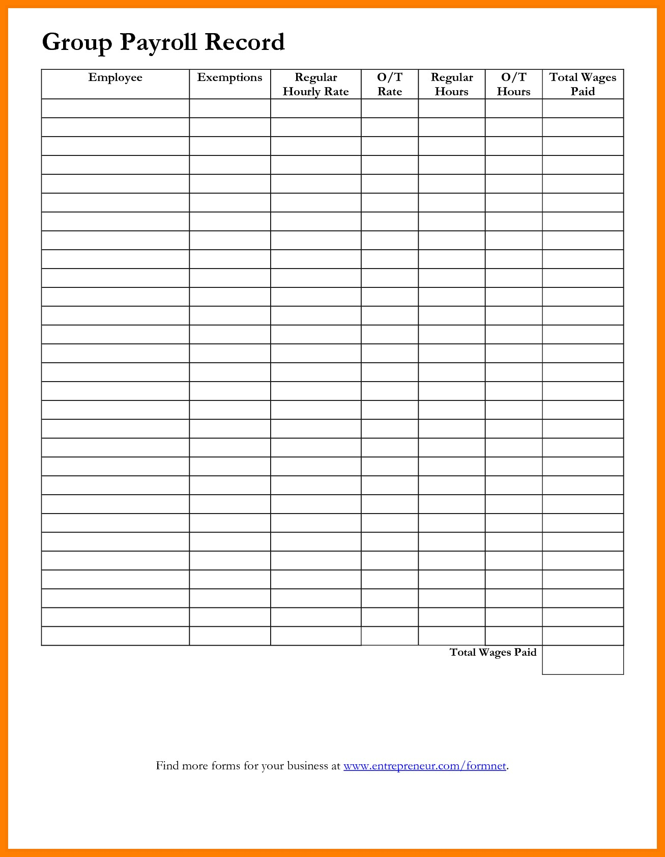 Payroll Worksheet Sample