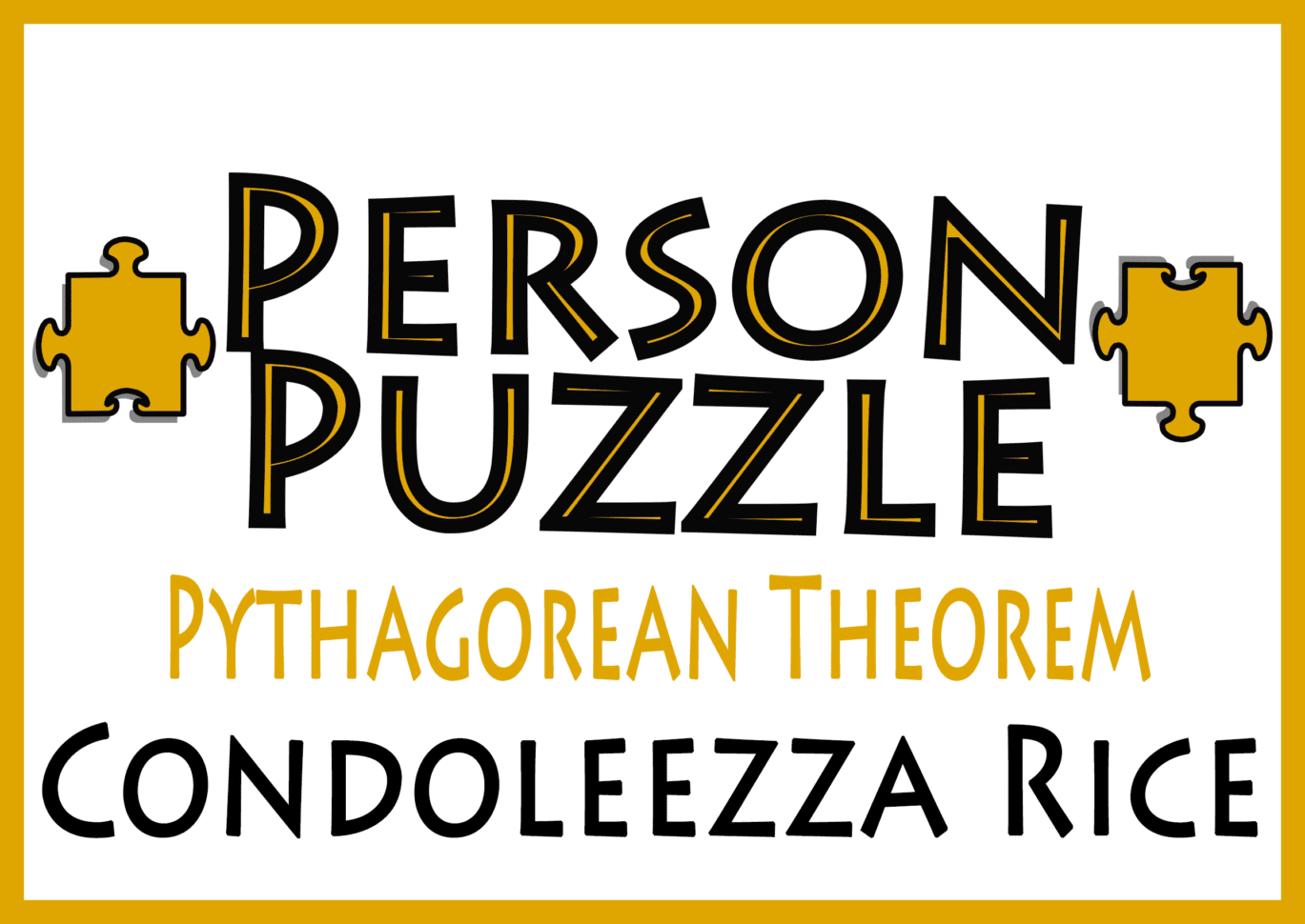 Person Puzzle Pythagorean Theorem Condoleezza Rice