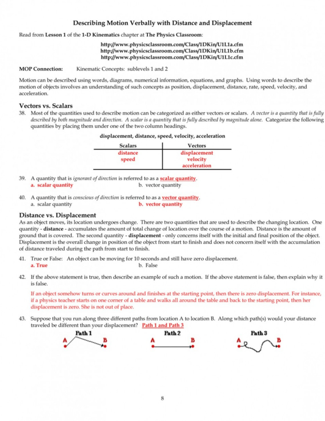Physics Classroom Free Body Diagrams Answers Inspirational