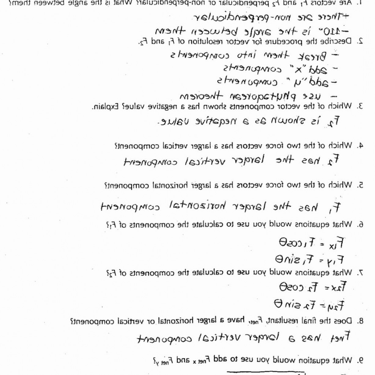 Physics Lab Worksheet The Coefficient Of Friction