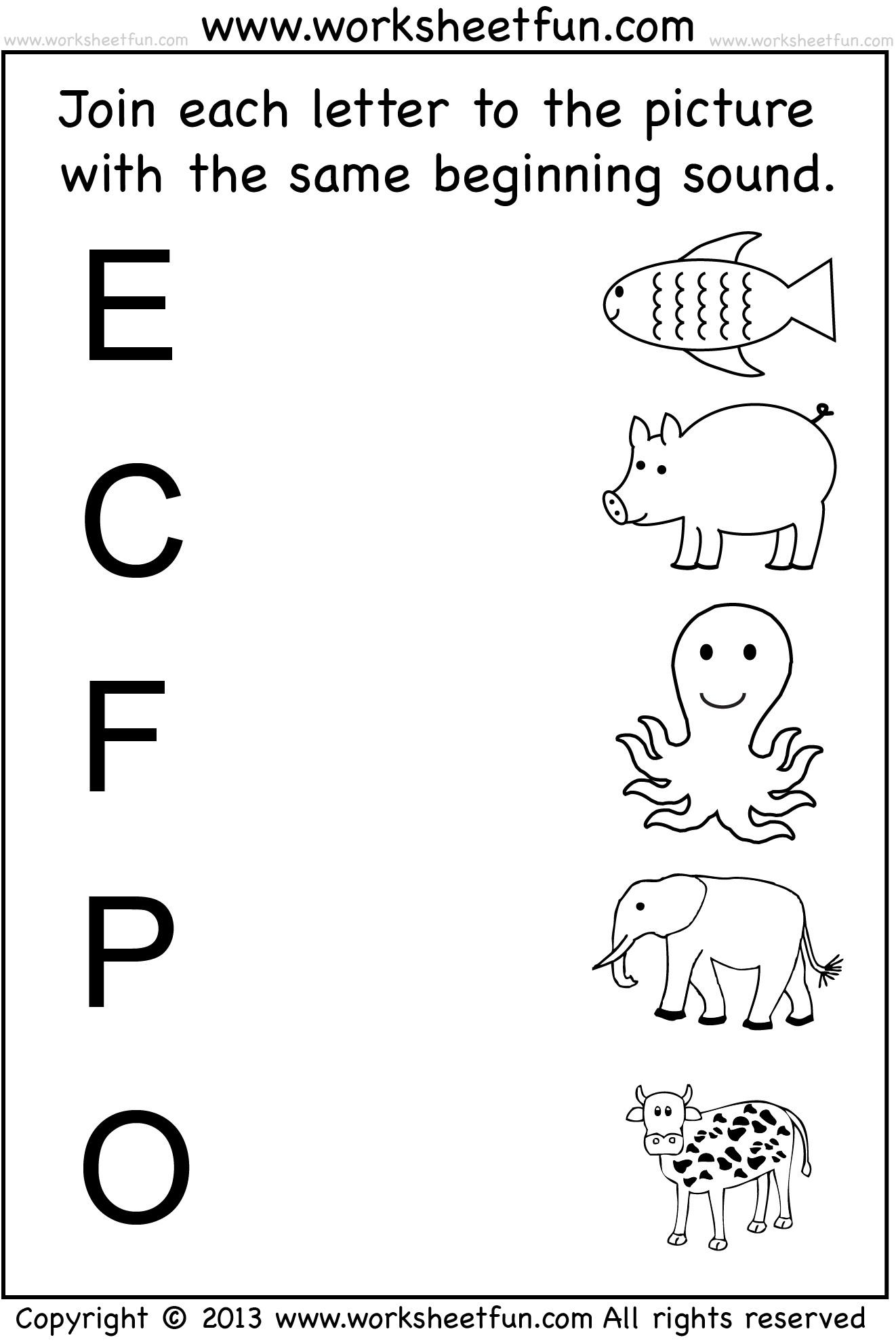 Preschool Activities Worksheets