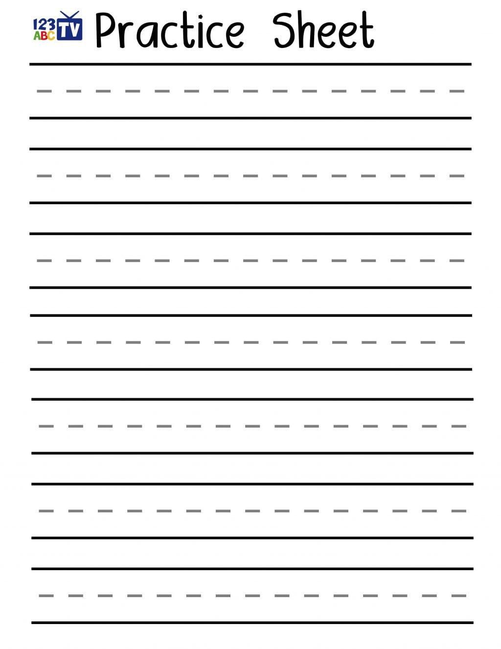 Preschool Writing Worksheets Db Excel