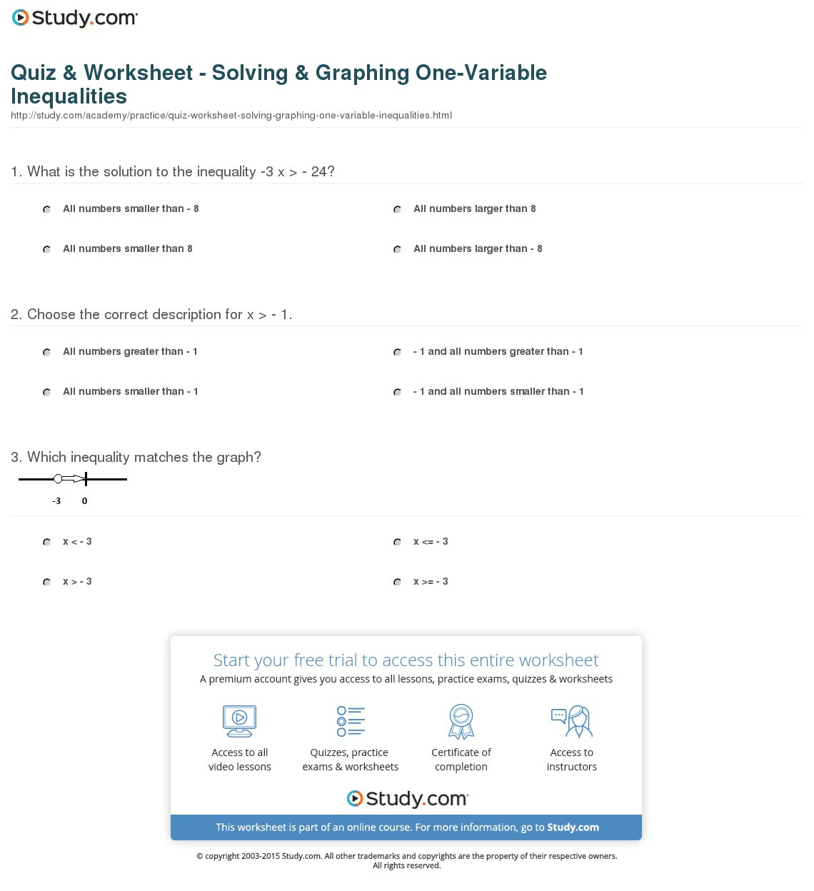 Course 3 Chapter 2 Equations In One Variable Worksheet