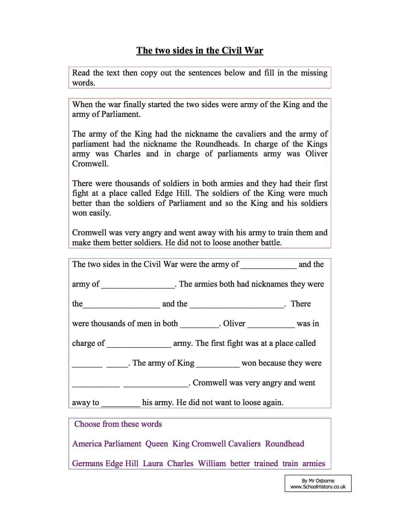 Reading Comprehension Worksheets 7th Grade Free Worksheet