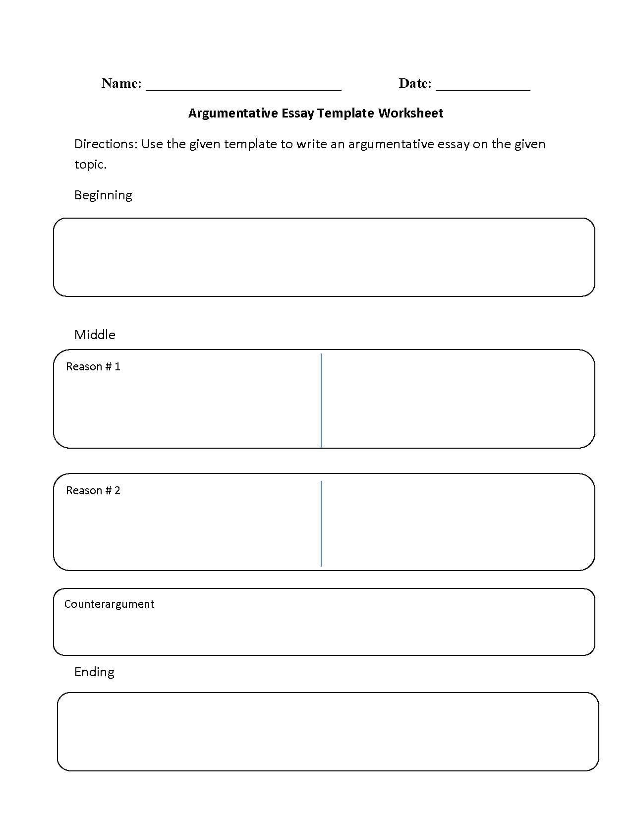 Reading Worksheets Argumentative Worksheets