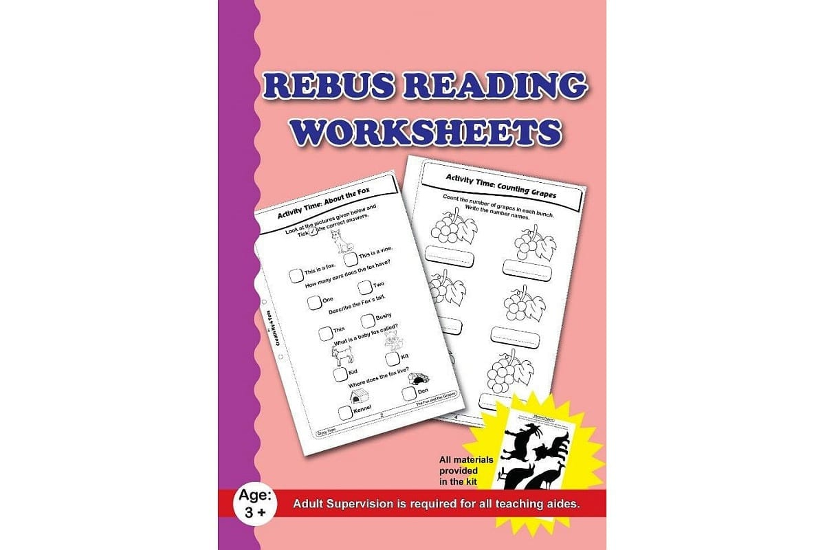 Rebus Reading Worksheets With Craft Material