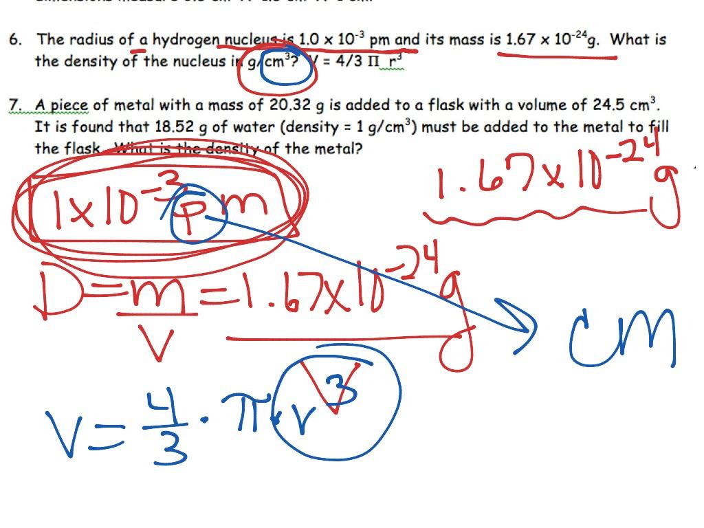 Science 8 Density Calculations Worksheet Netvs