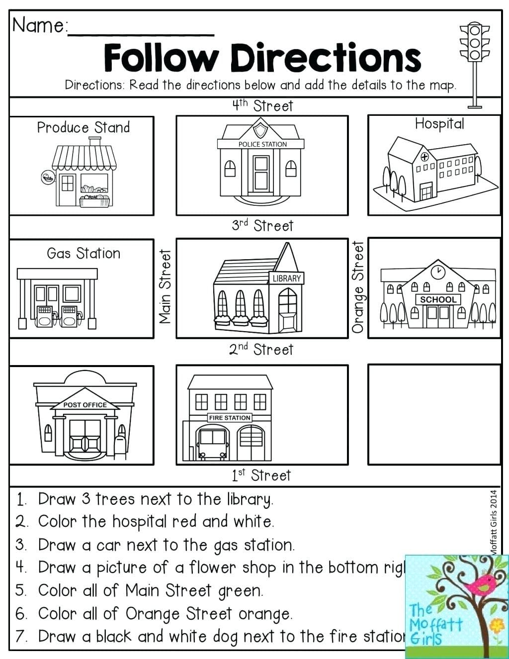 Second Grade Map Skills Worksheets Redbirdcolorco