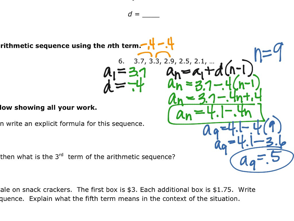 Arithmetic Sequences As Linear Functions Worksheet Db