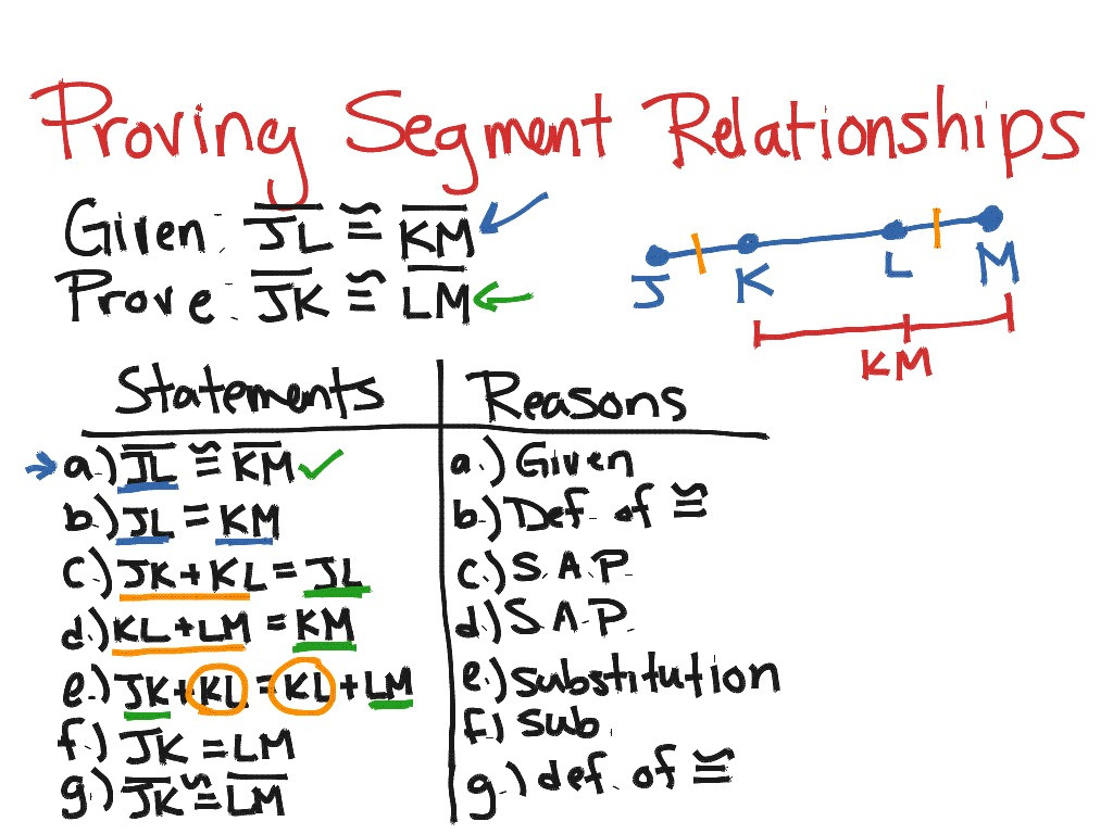 Showme Geometry 27 Proving Segment Relationships