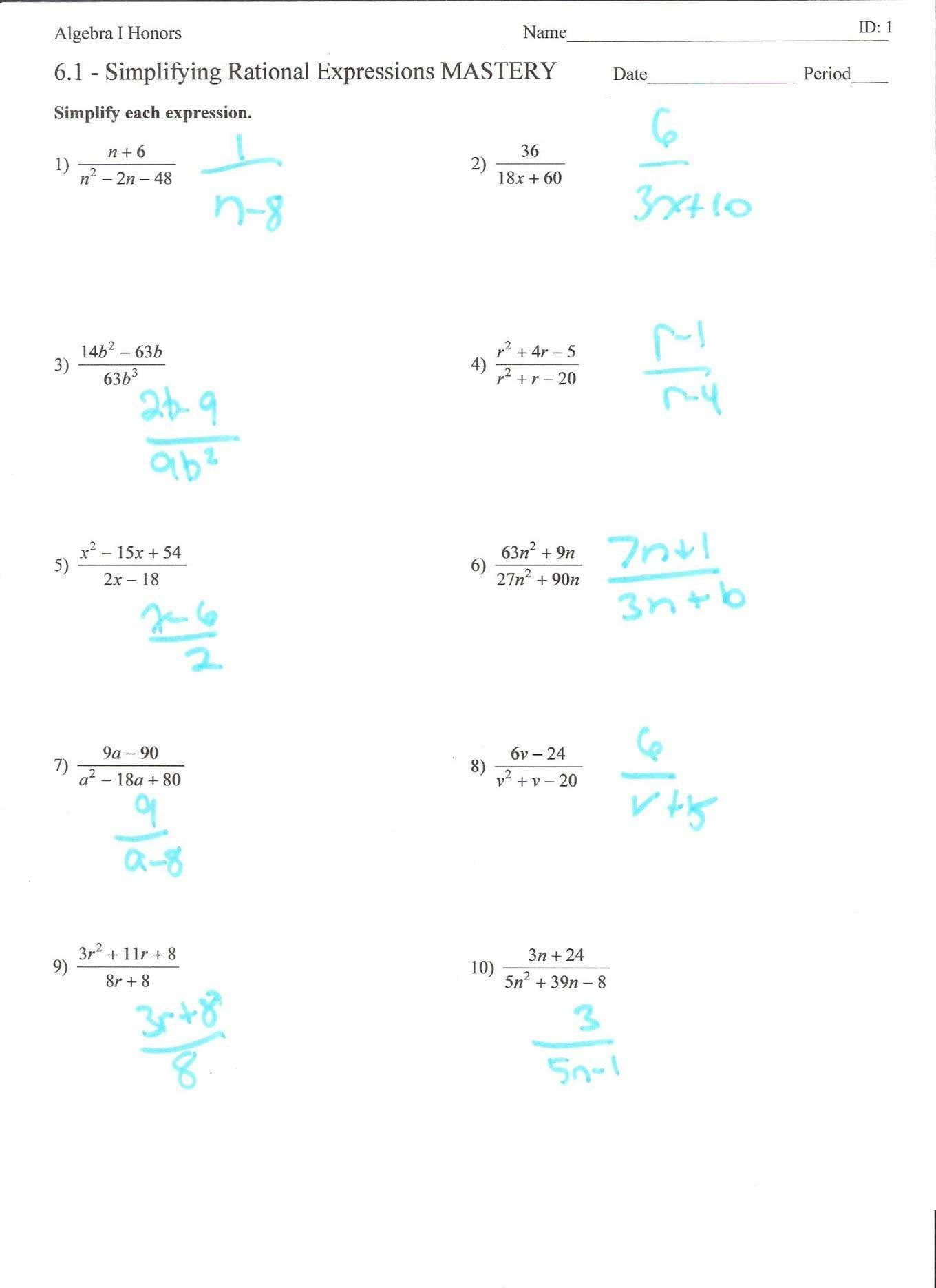 Simplifying Radicals Worksheet Elegant Simplifying