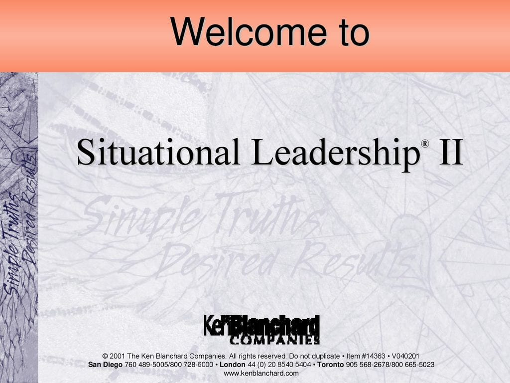 Situational Leadership Ii Ppt Download