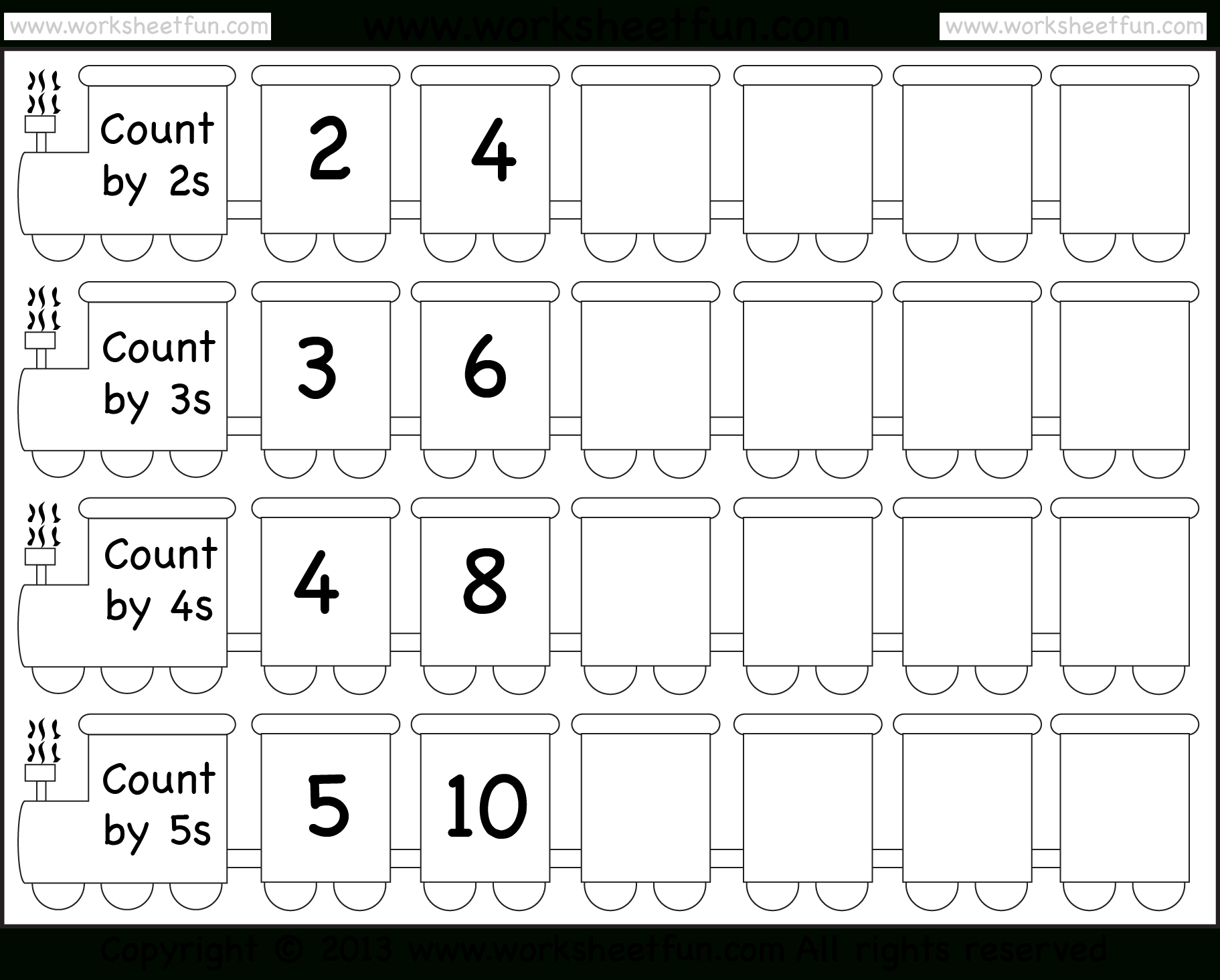Skip Counting2 3 4 And 5 Worksheet Free Printable