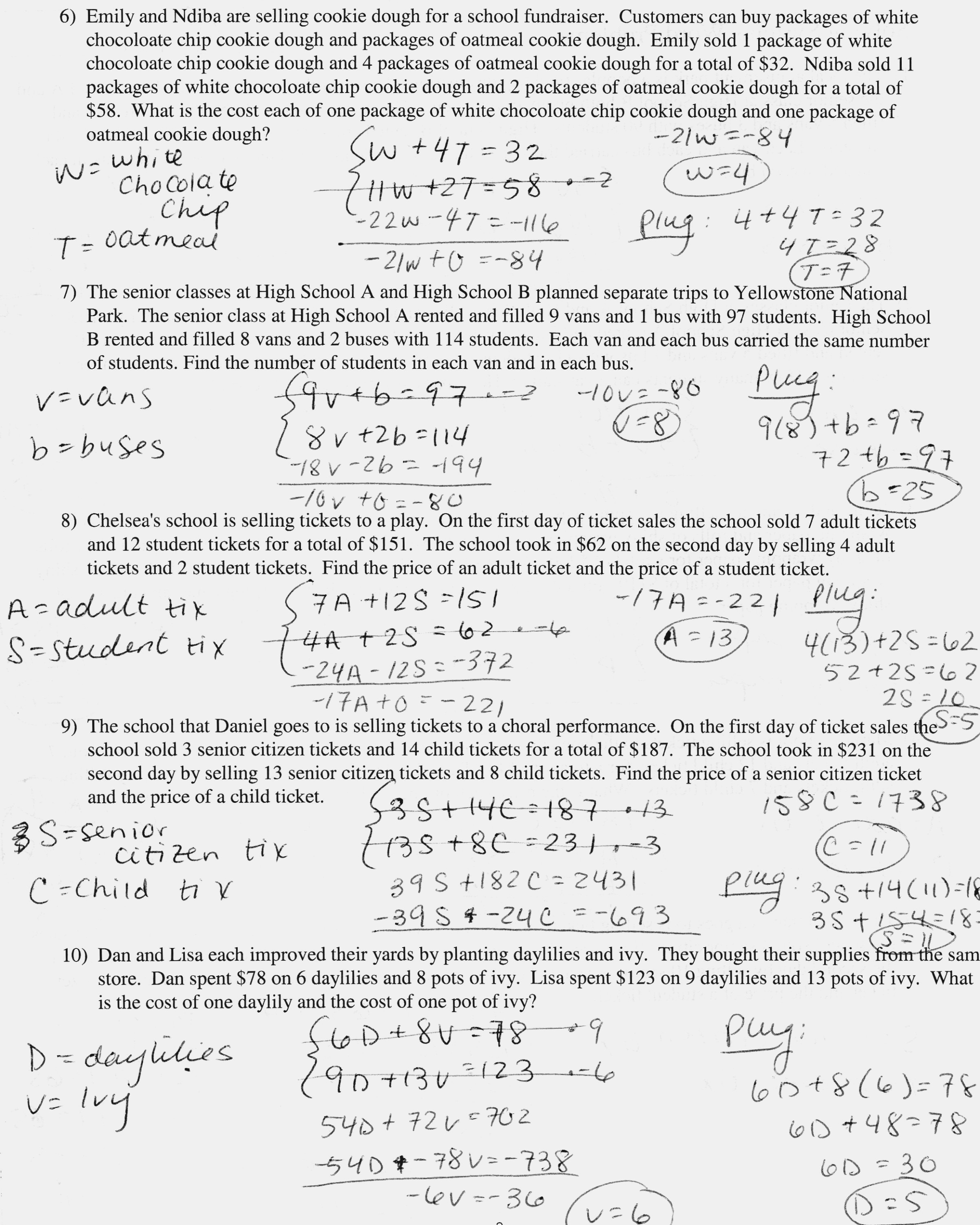 Slope Intercept Form Word Problems Worksheet With Answers