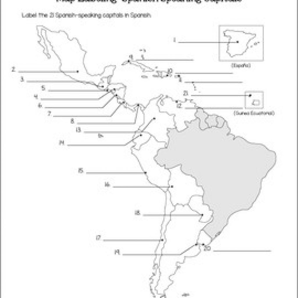 Spanish Speaking Countries Map And Capitals Maps Quiz By