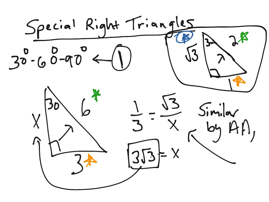 Special Right Triangles Math Geometry Triangles