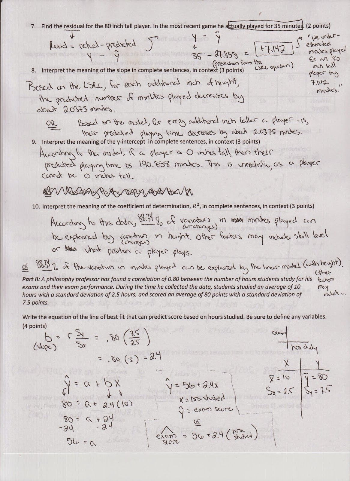 Standard Deviation Worksheet Answers
