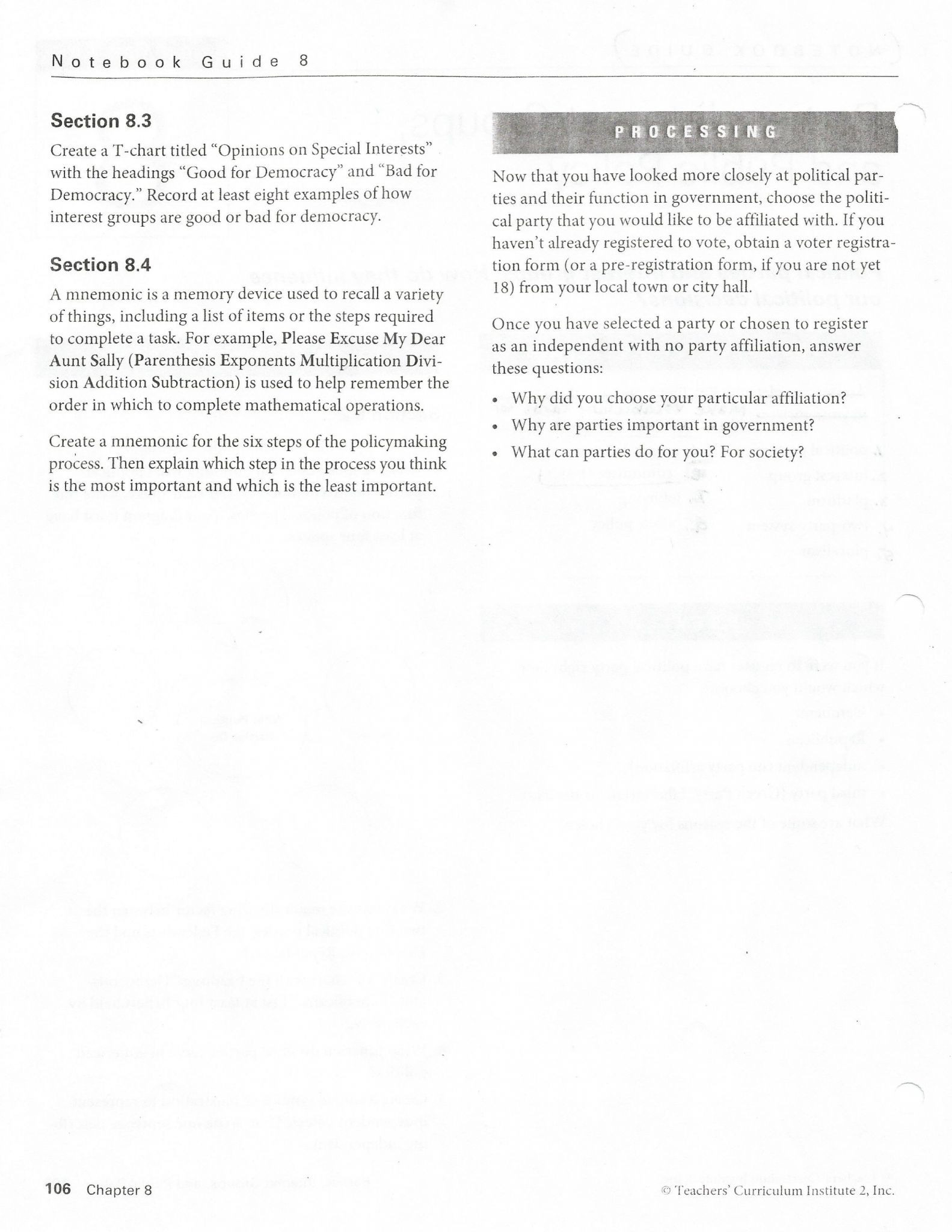 Teachers Curriculum Institute Worksheet Answers