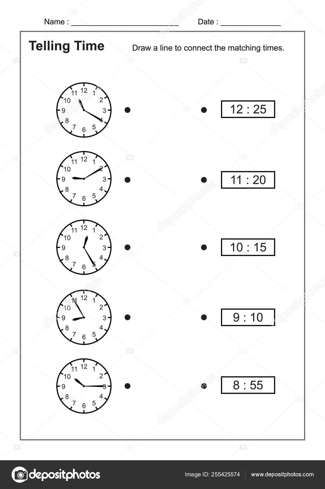 Telling Time Telling Time Practice Children Time