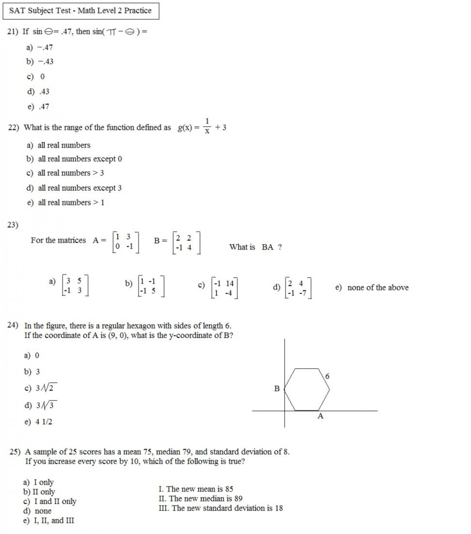 Tenth Grade Math Worksheets Printable Worksheet Page For