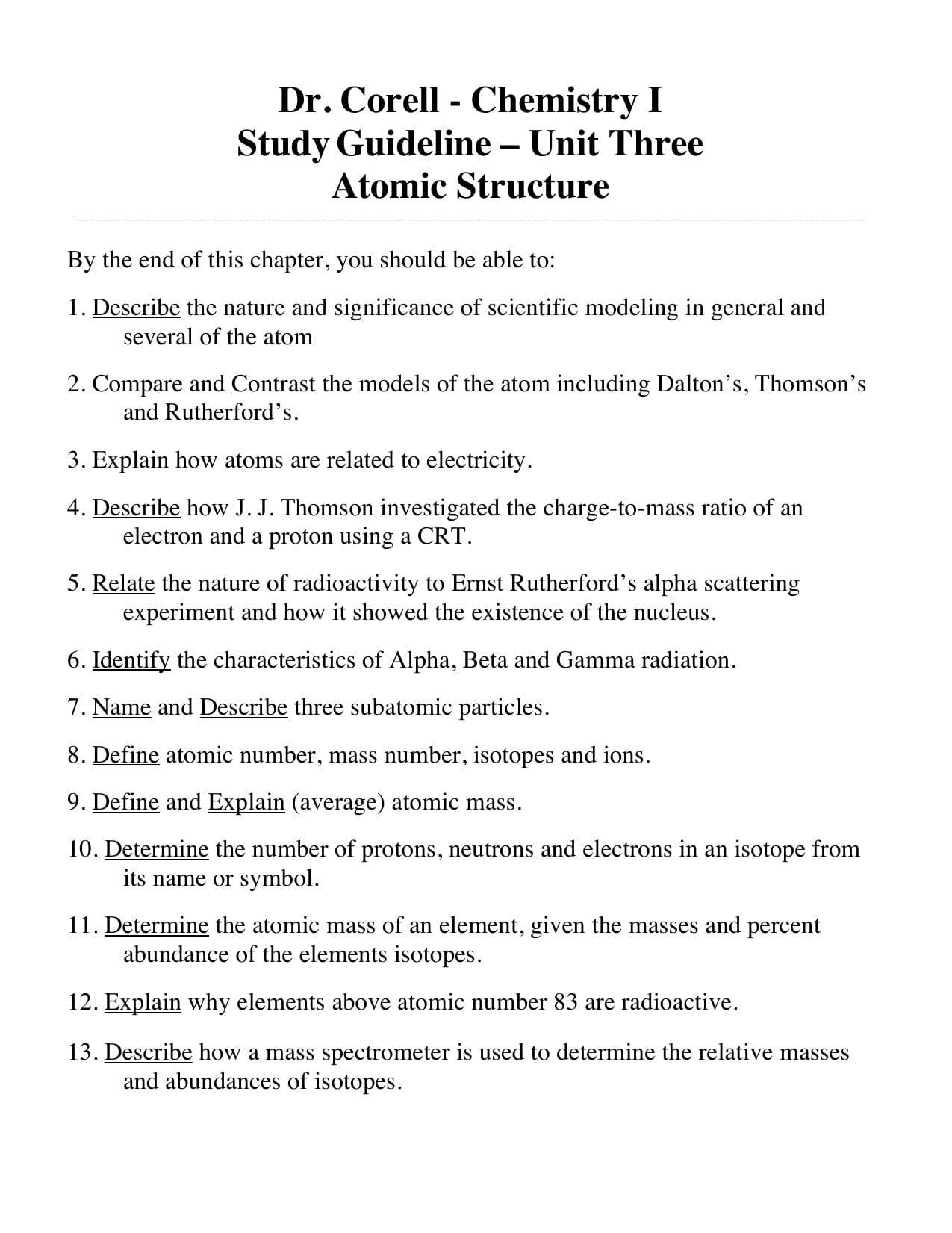 Abundance Of Isotopes Chem Worksheet 4 3 Answers