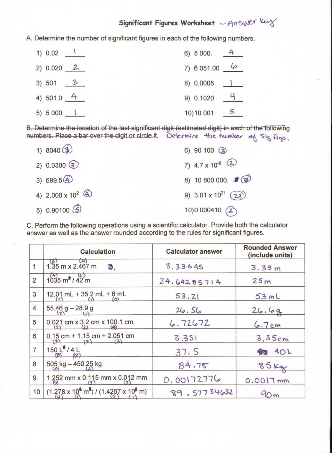 Metric Conversion Worksheet 1 Answer Key