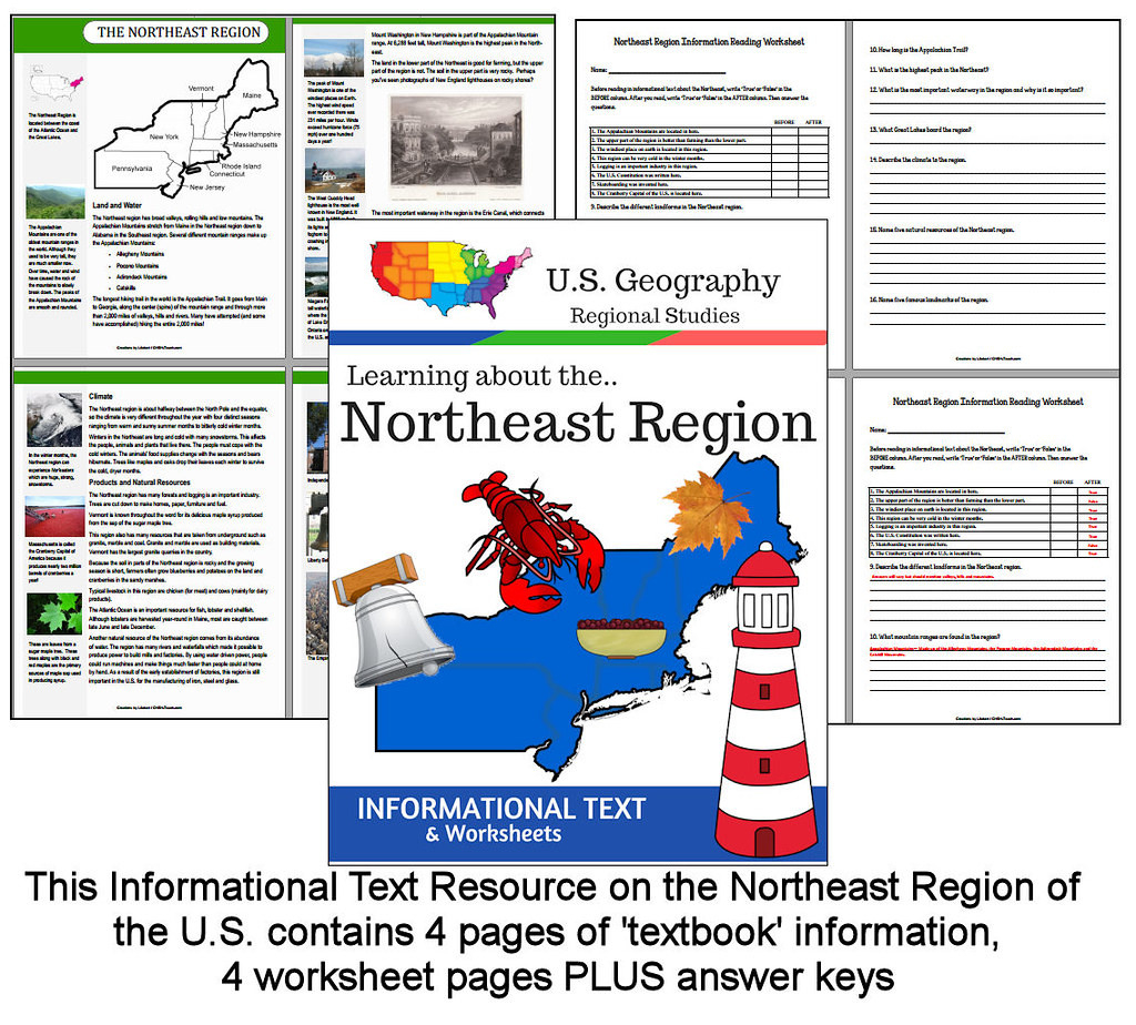 Northeast Region Worksheets