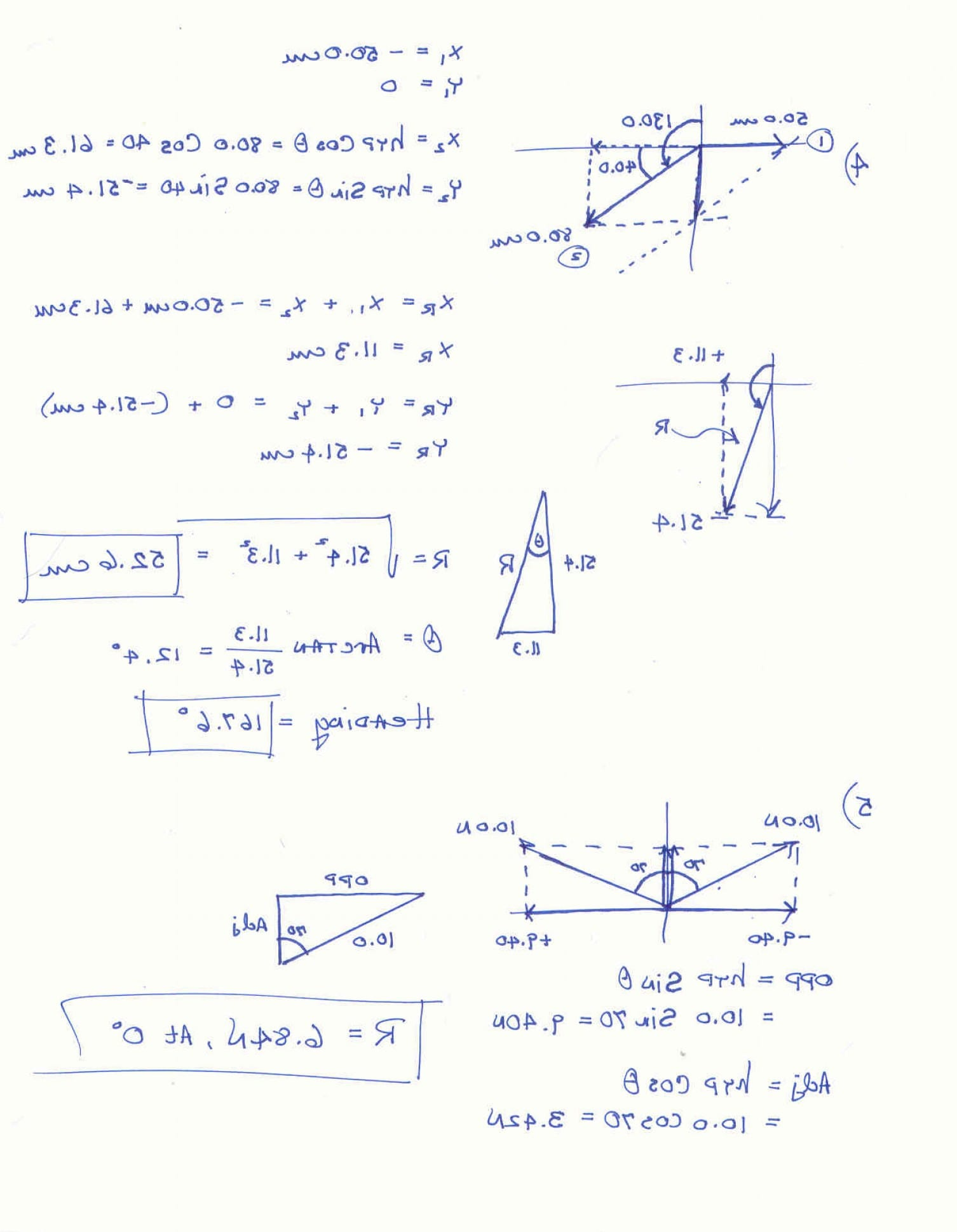 Vectors Worksheet With Answers