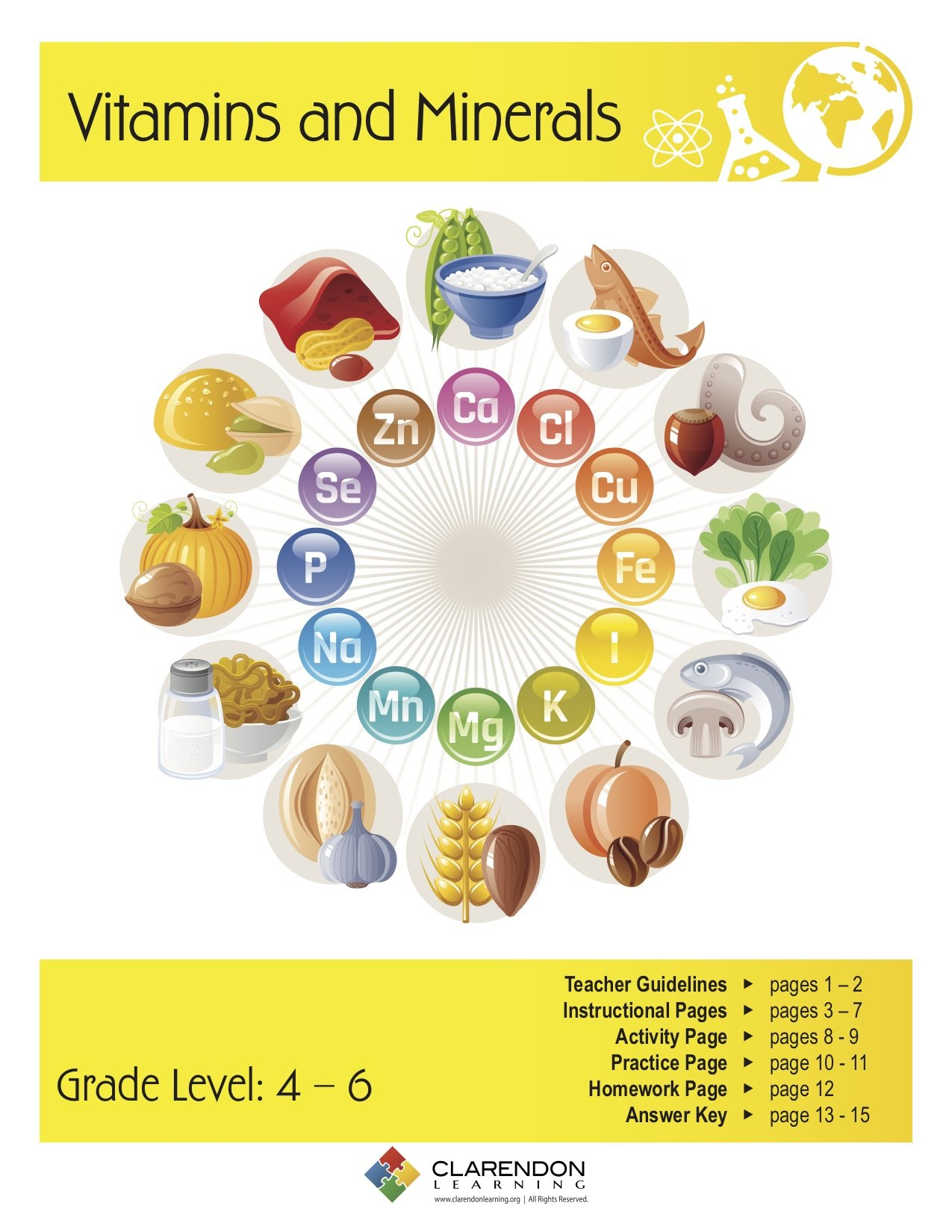 Vitamins And Minerals Lesson Plan Clarendon Learning