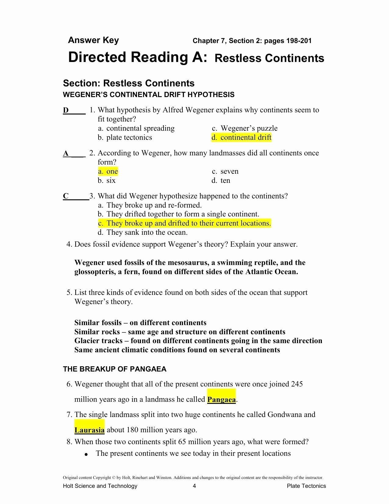 Volcanoes And Plate Tectonics Worksheet Worksheet