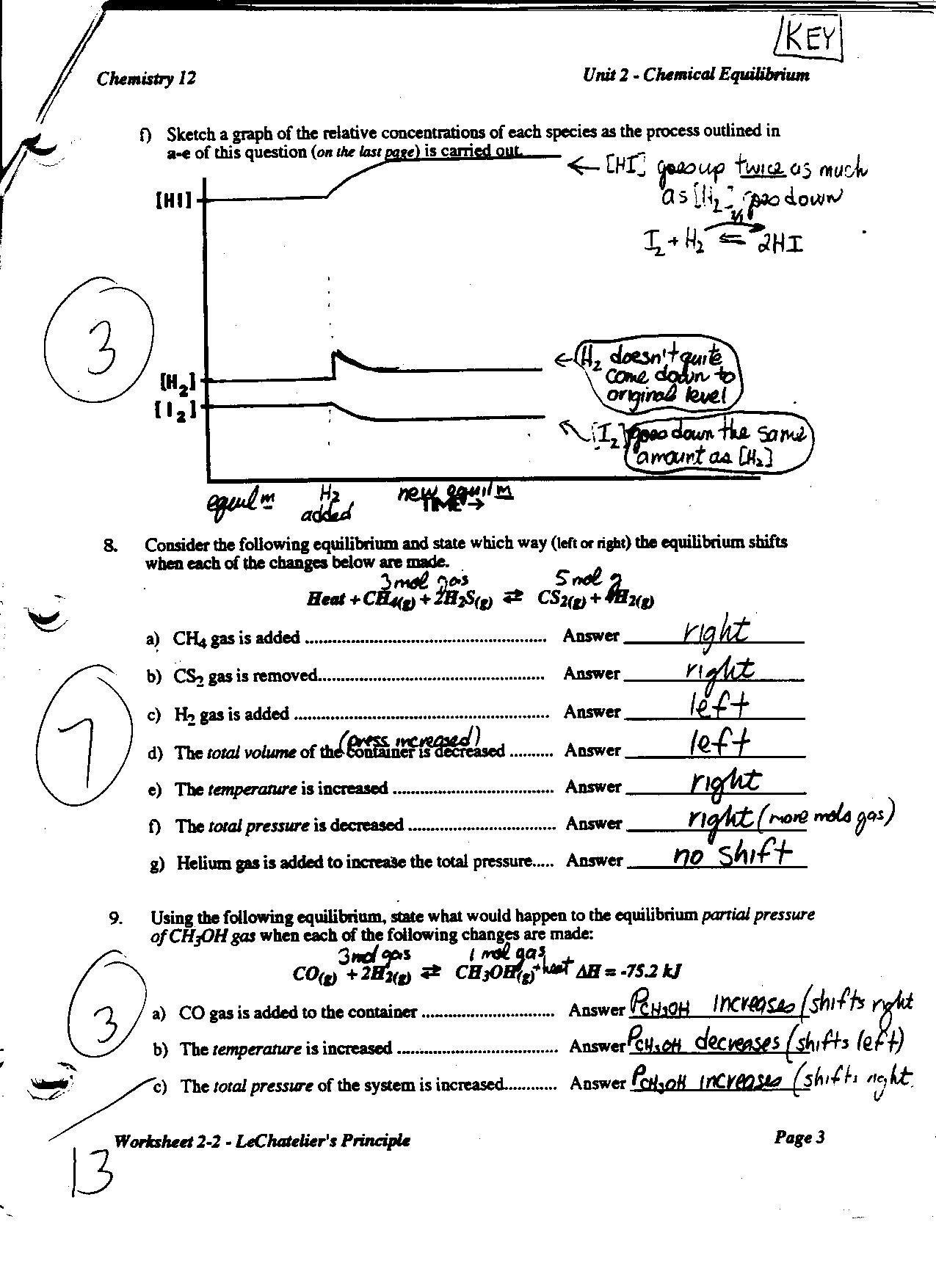 Westgate Mennonite Collegiate Unit 4 Chemical Equilibrium