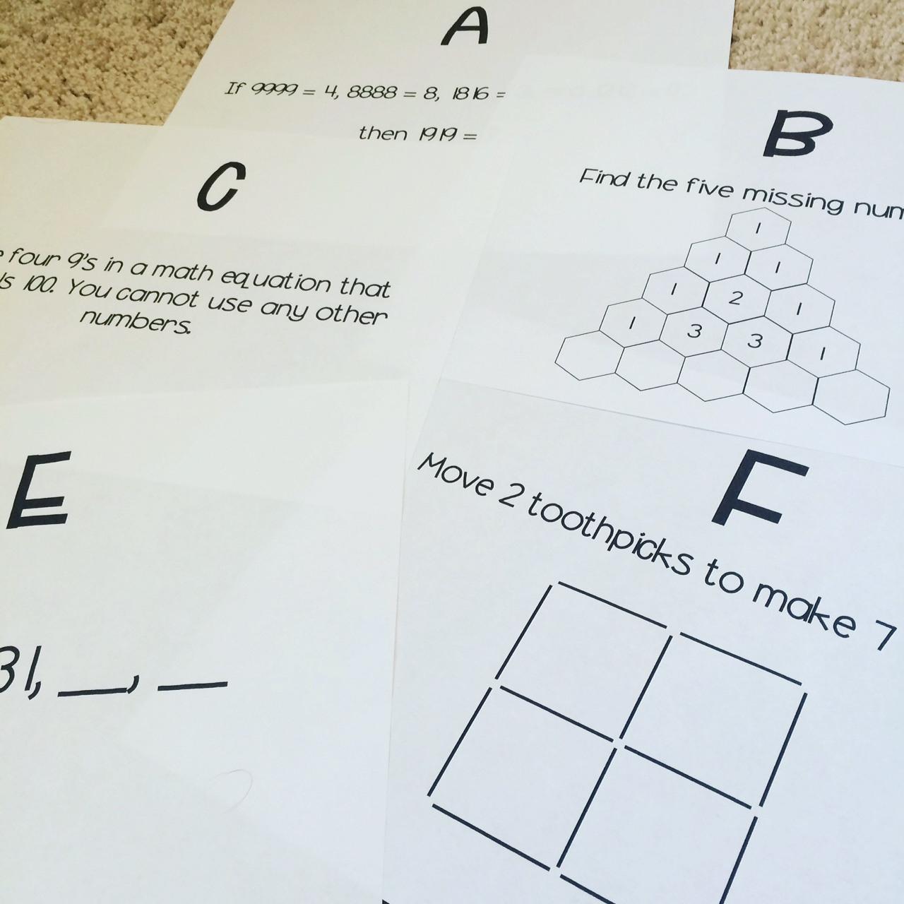 Worksheet Brain Teaser Worksheets Useful Brain Teaser