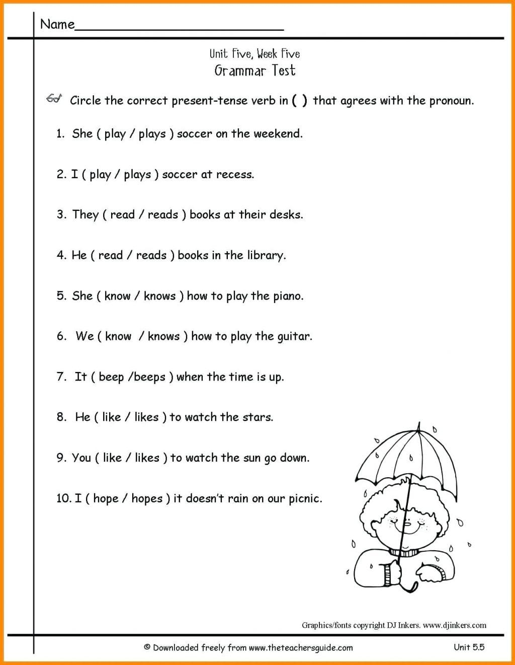 Worksheet Ideas 2nd Grade Grammar Worksheets Free