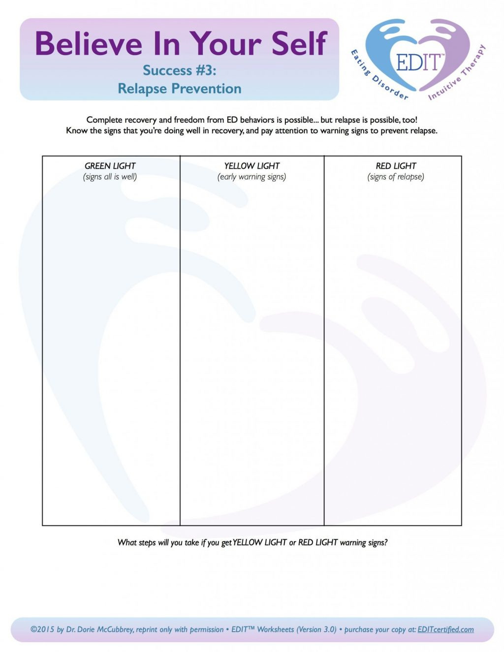 Coping With Anxiety Worksheets