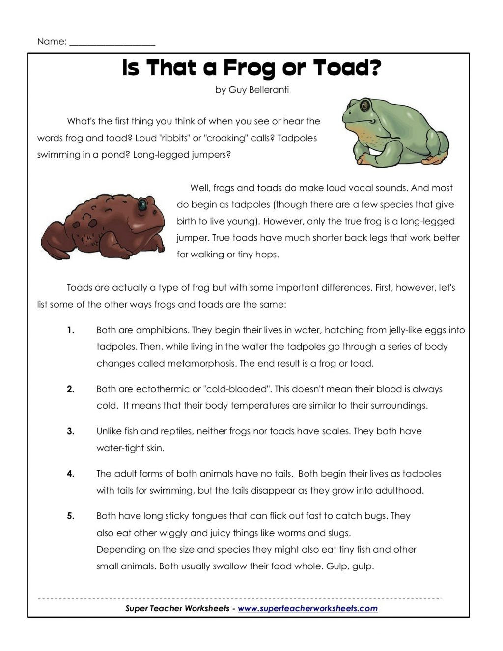 Worksheet Ideas Awesome Frog And Toad Are Friends
