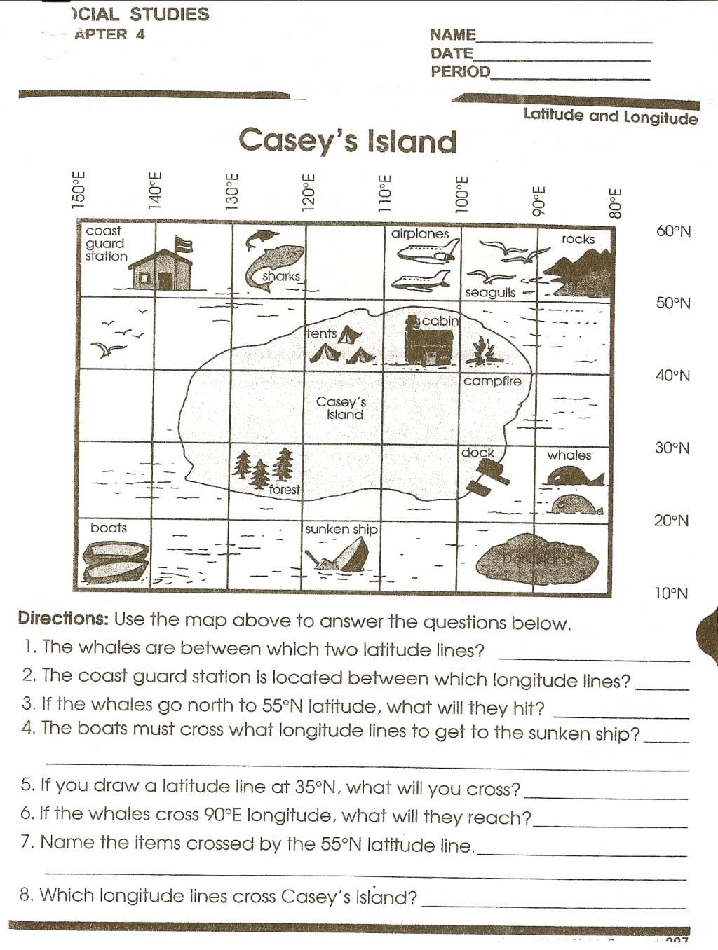 Worksheet Ideas Reading Maps Handout 2 Social Stu S