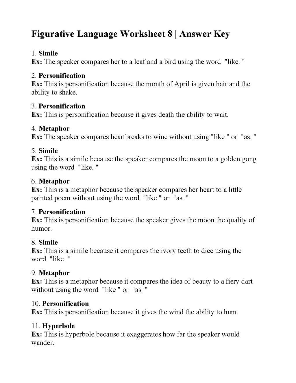 Worksheet Ideas Worksheet Ideas Metaphor Worksheets