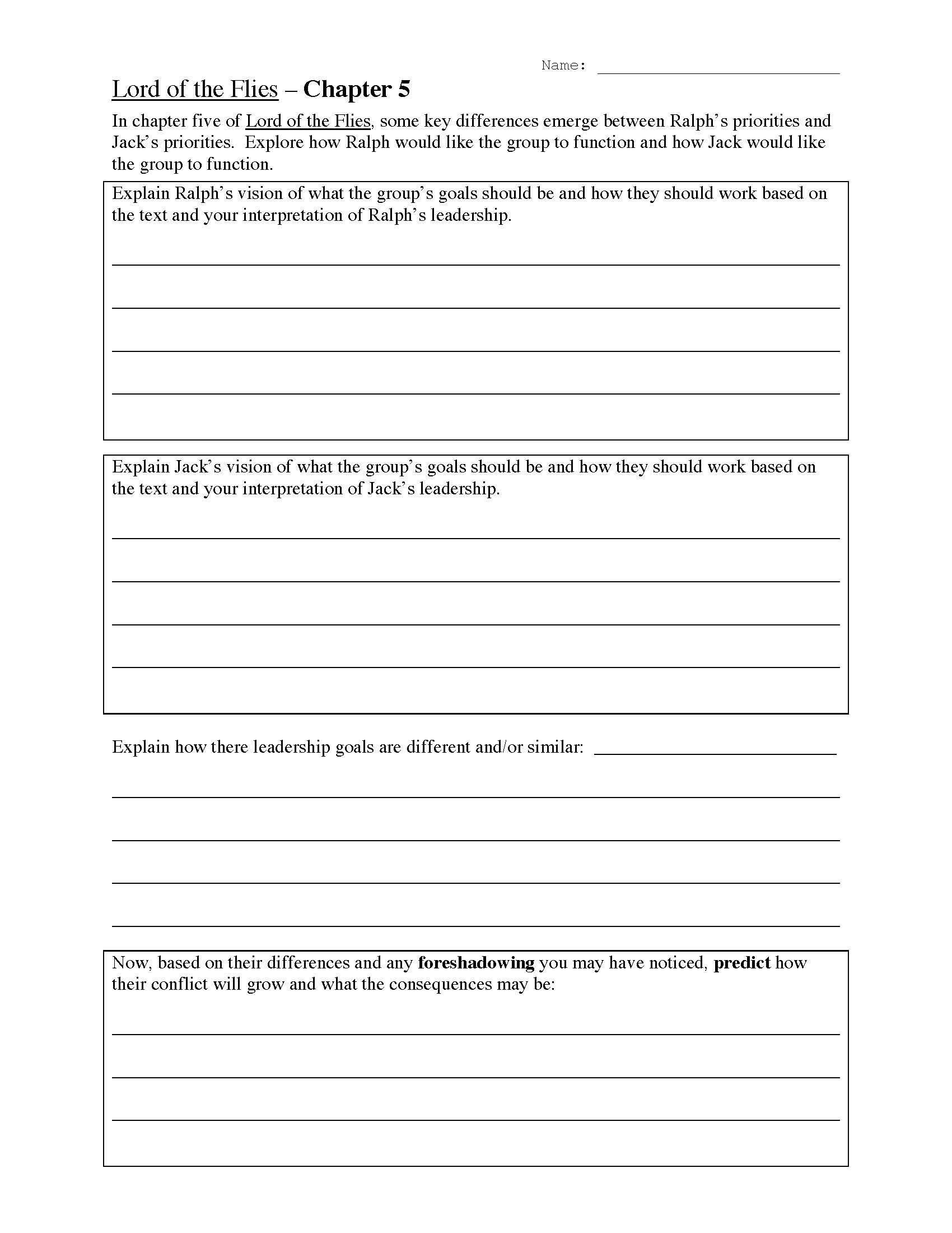 Free Leadership Worksheets