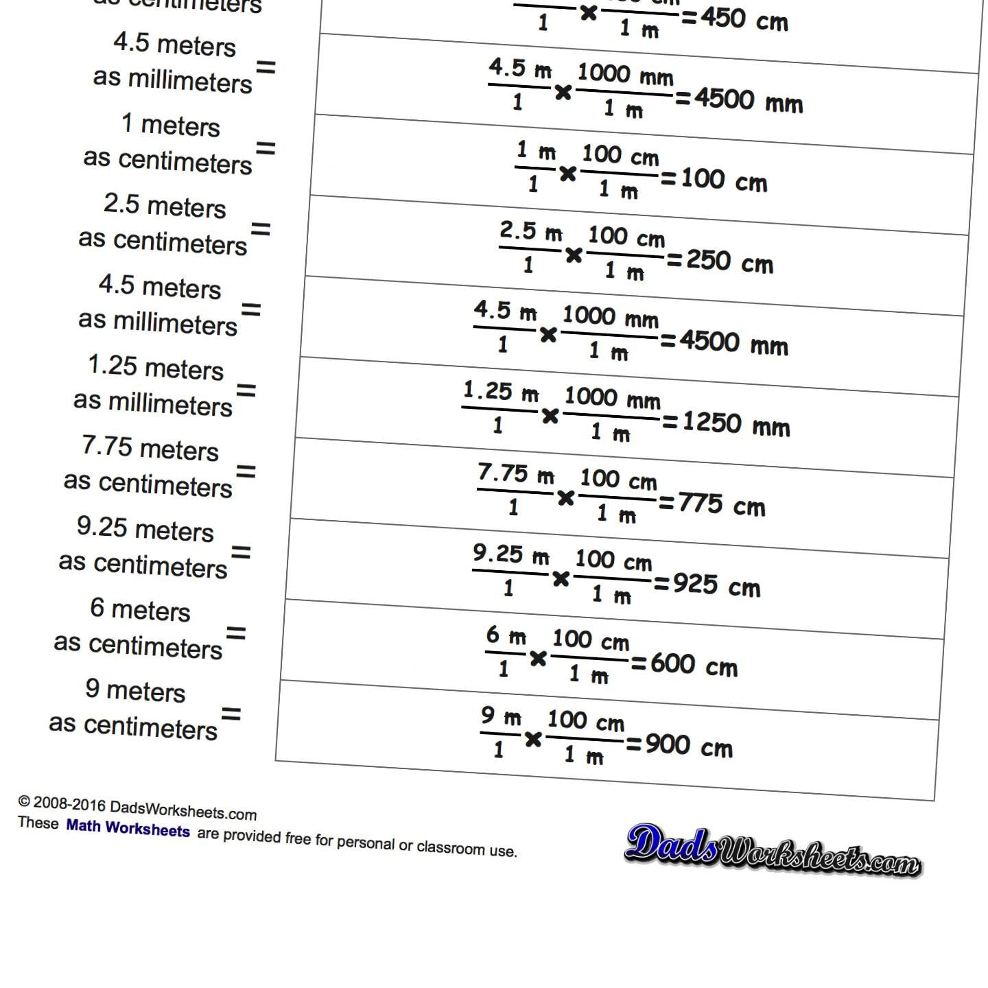 Worksheet Unit Conversions Worksheet Metric Si Unit