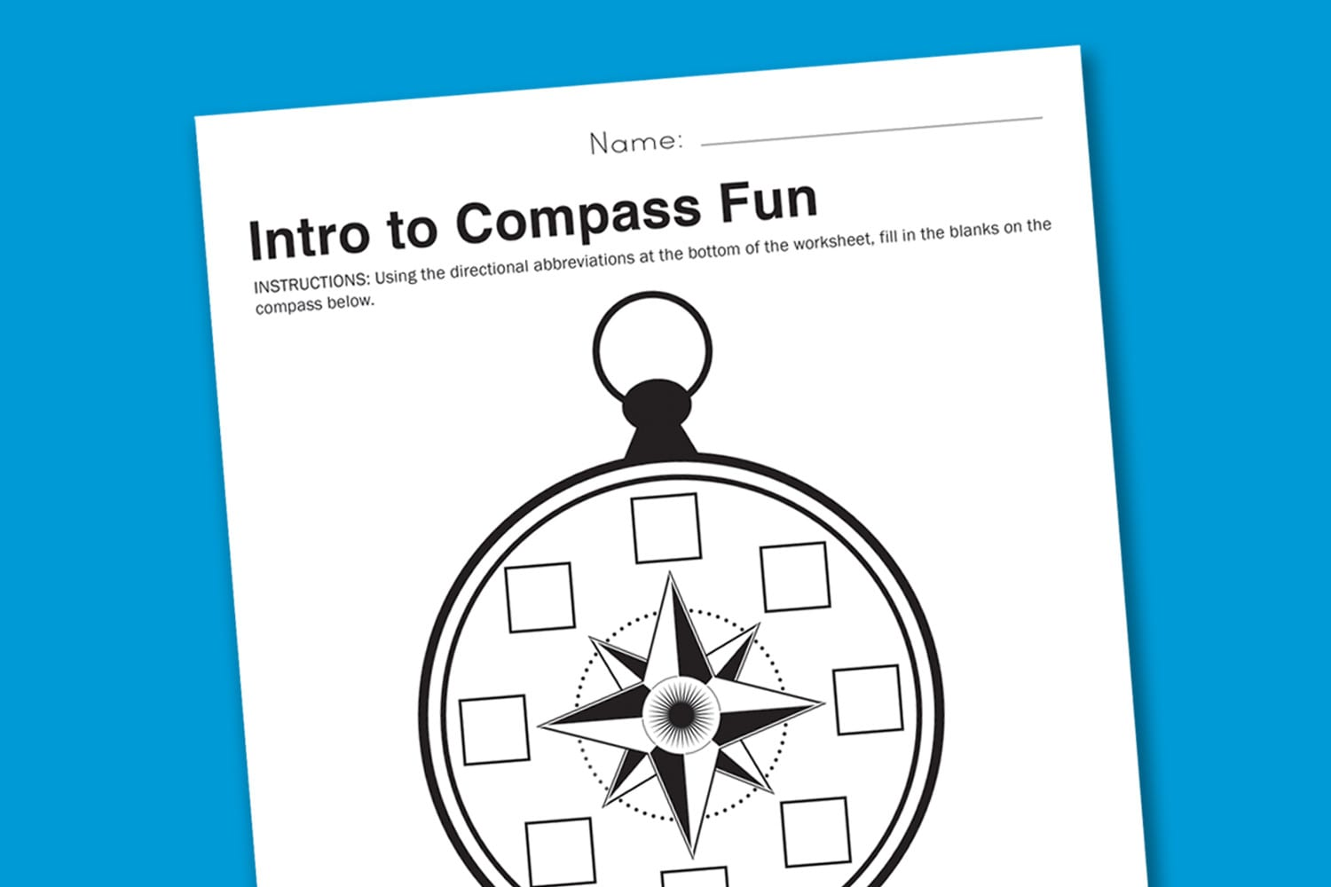 Worksheet Wednesday Intro To Compasses Paging Supermom