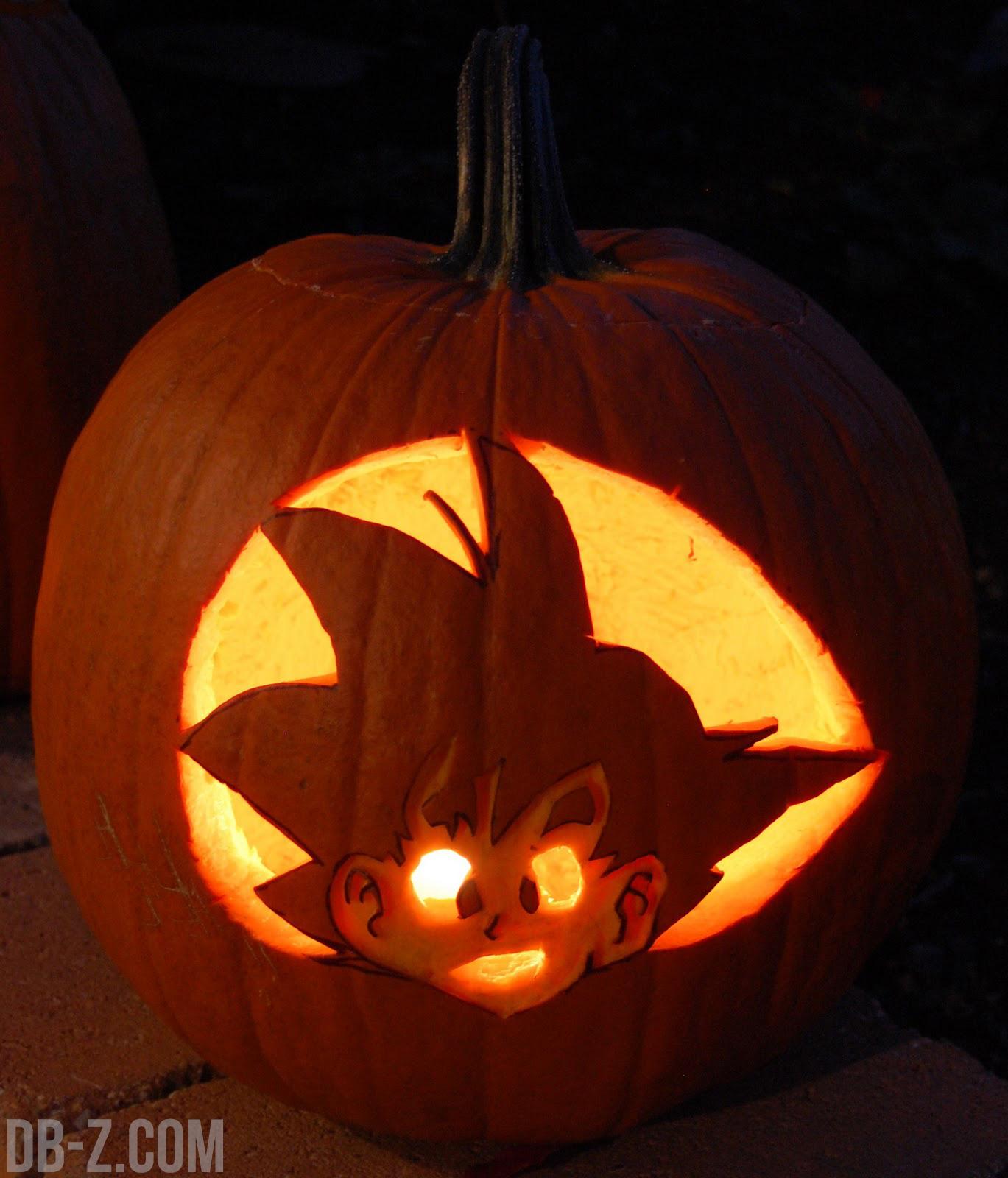 dragon ball z halloween pumpkin carving patterns