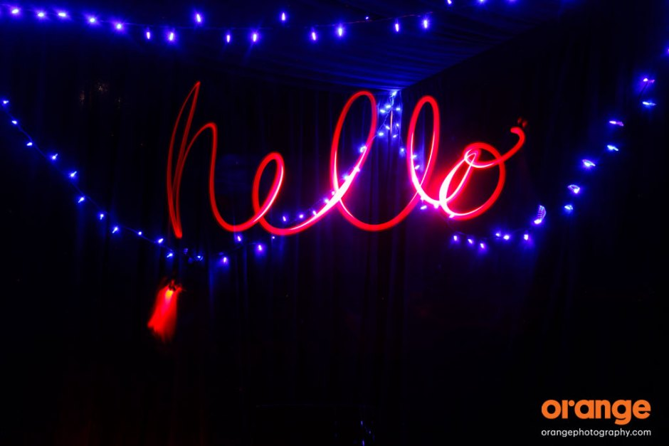 Light painting photography - how to write words