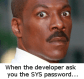 SYS Password