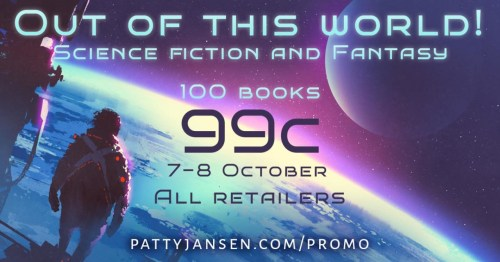 science fiction and fantasy book sale banner