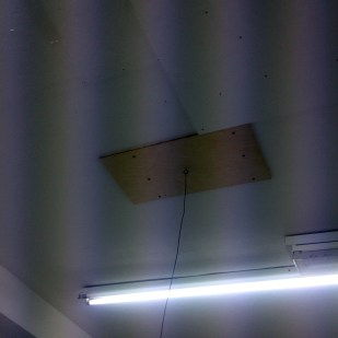 I needed to locate the ceiling joists to attach secure plates to